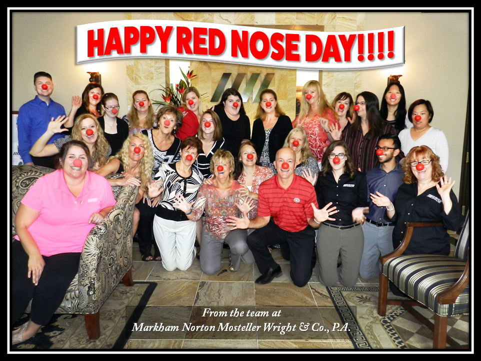 Team photo on red nose day