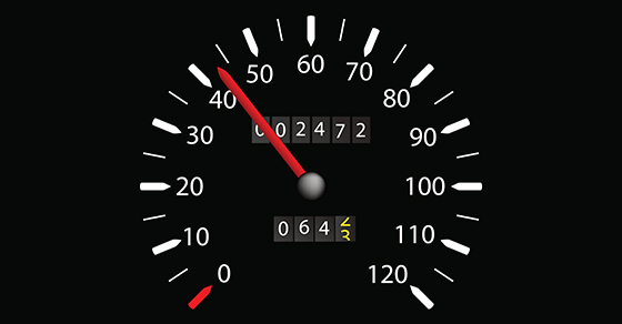 graphic of car speedometer