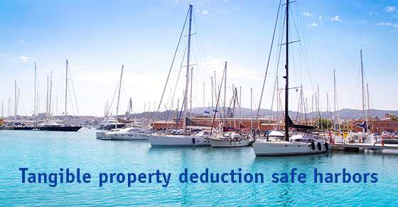 Tangible property deduction safe harbors