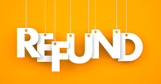 graphic of the word refund