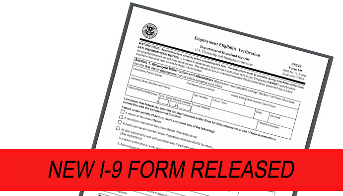 New I-9 Form Released