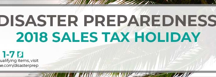 Disaster Preparedness Sales Tax Holiday notice