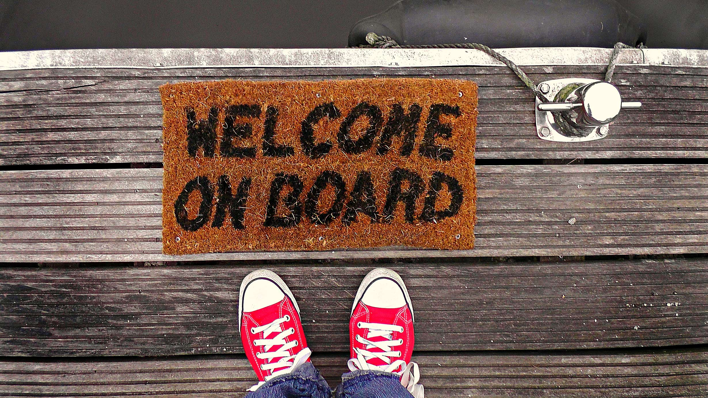 Welcome Aboard mat