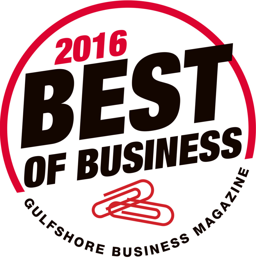 2016 Gulfshore Business Magazine Best of Business Badge