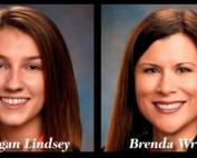 Headshots of Morgan Lindsey and Brenda Wright