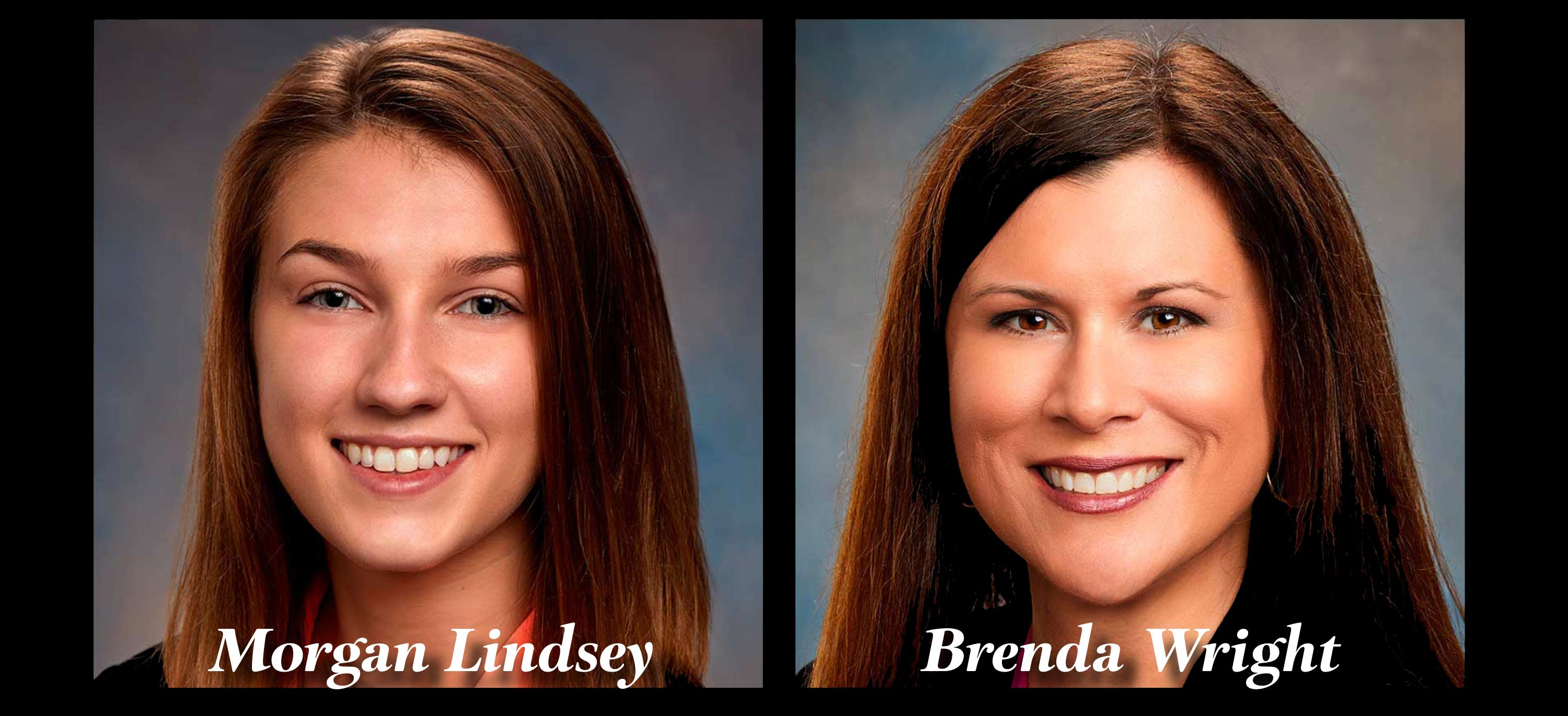 Headshots of Morgan Lindsey and Brenda Wright