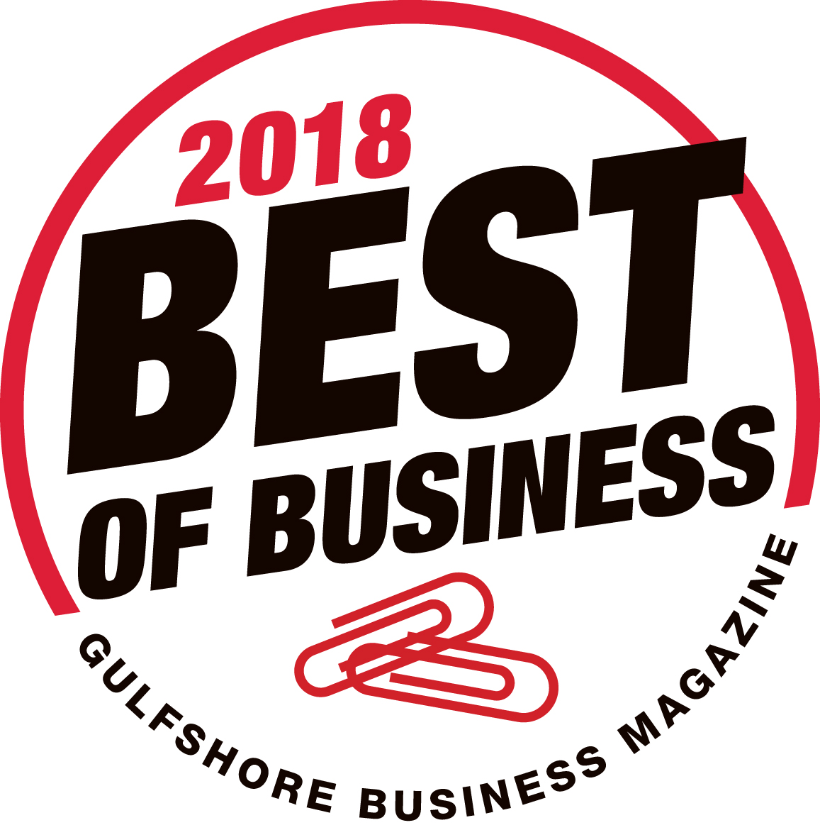 2018 Gulfshore Business Magazine Best of Business Badge