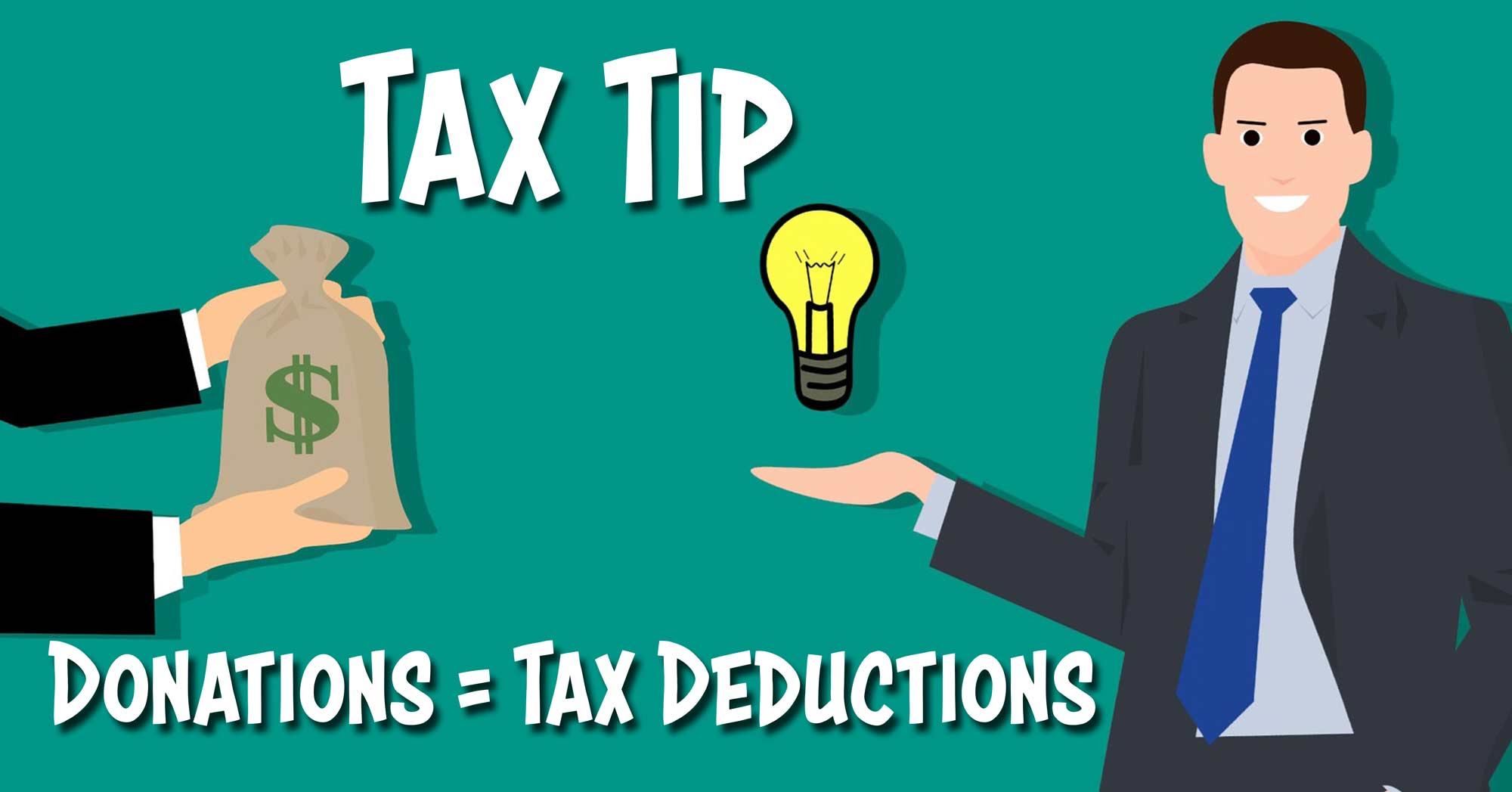 Tax tip picture about donations