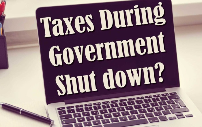 Tax and Government Shut Down