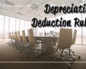 Depreciation Deductions Rules