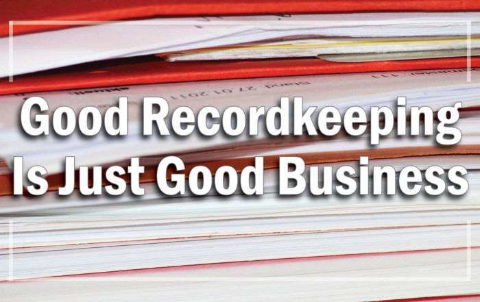 Good Recordkeeping