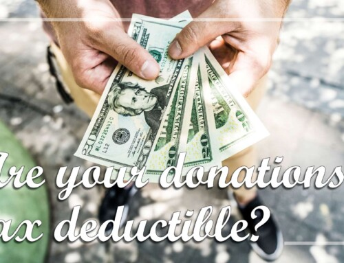 Are Your Donations Tax Deductible?