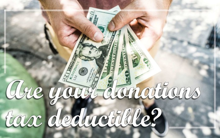 Deductible donations