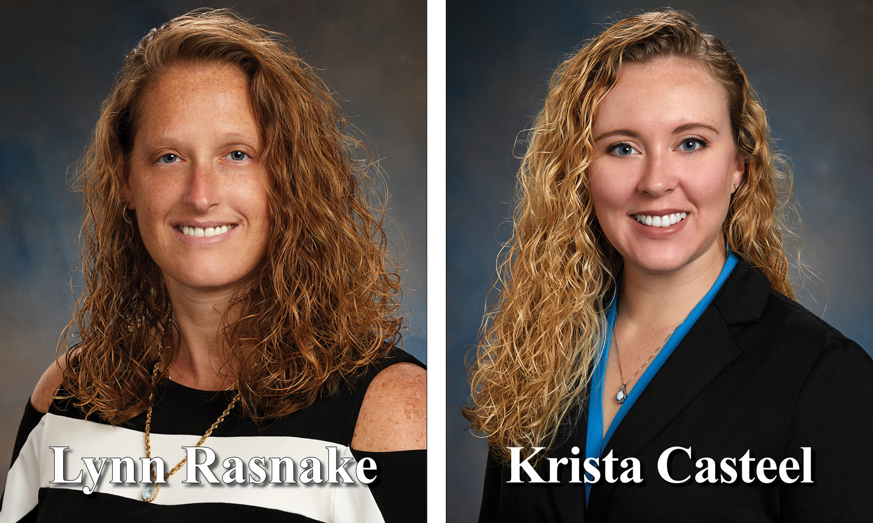 Lynn R. and Krista C. headshots