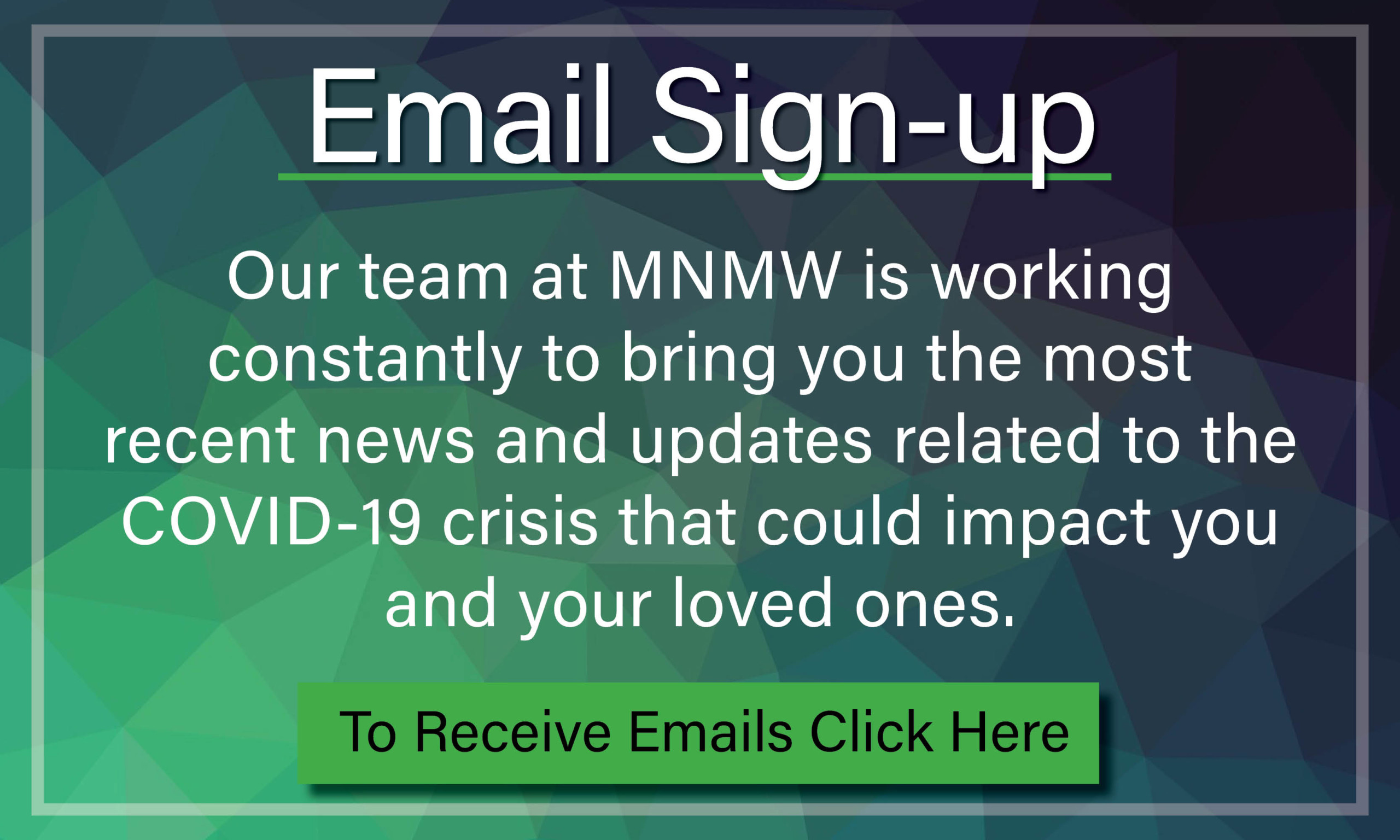 MNMW Email Sign-up