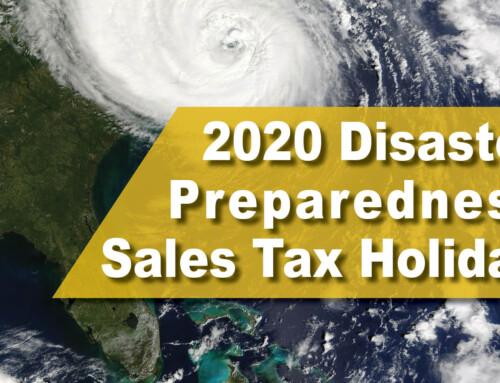 2020 Disaster Preparedness Sales Tax Holiday