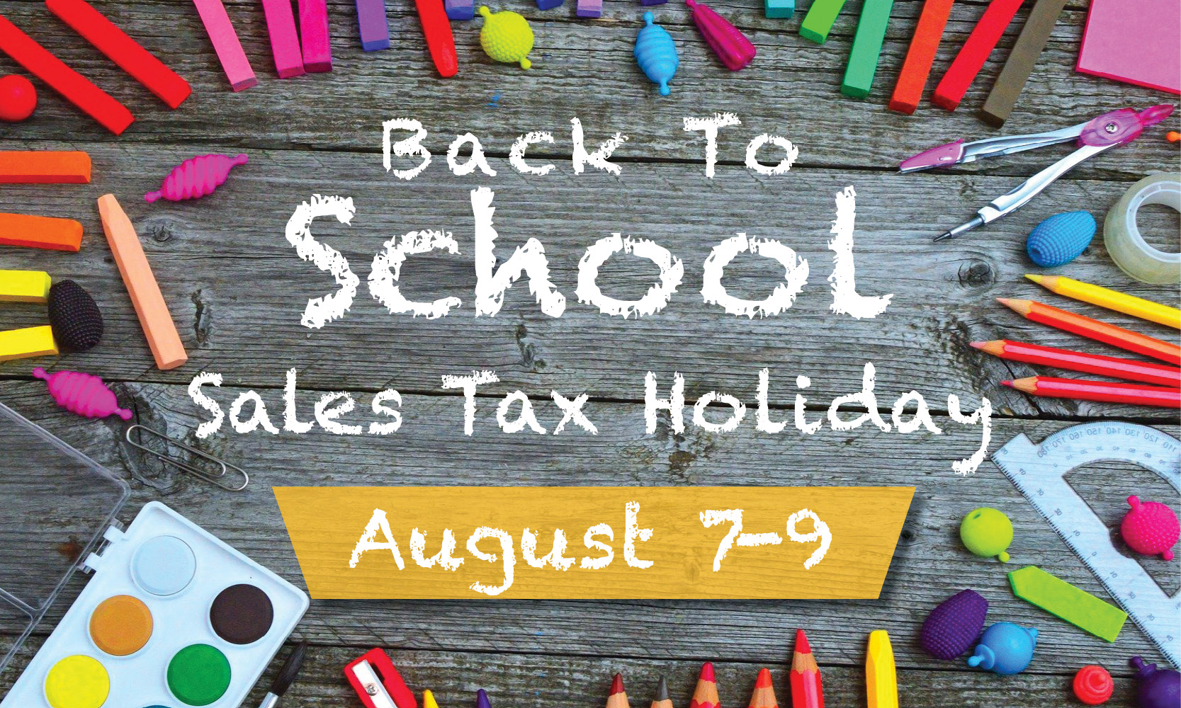School Supply Tax Holiday 2020
