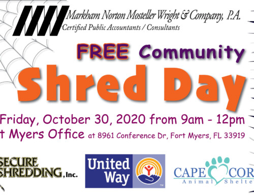 2020 Annual FREE Community Shred Day Event