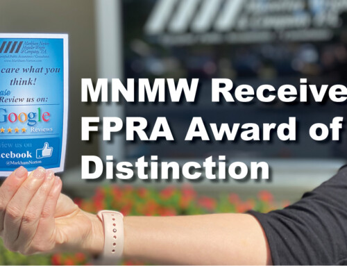 MNMW Receives FPRA Award of Distinction