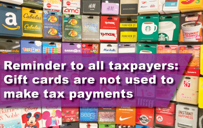 Reminder to all taxpayers: