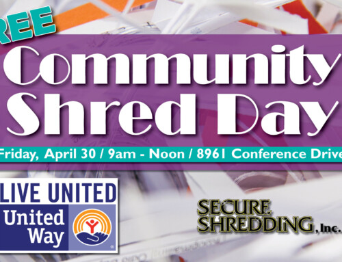 2021 Annual FREE Community Shred Day Event