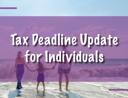 Tax Deadline Update for Individuals