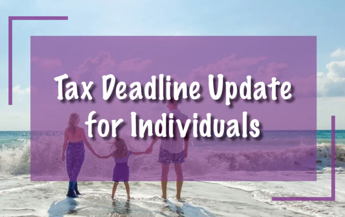 Tax Deadline Update for Individuals