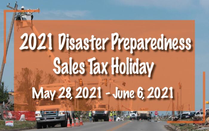 2021 Disaster Preparedness Sales Tax Holiday